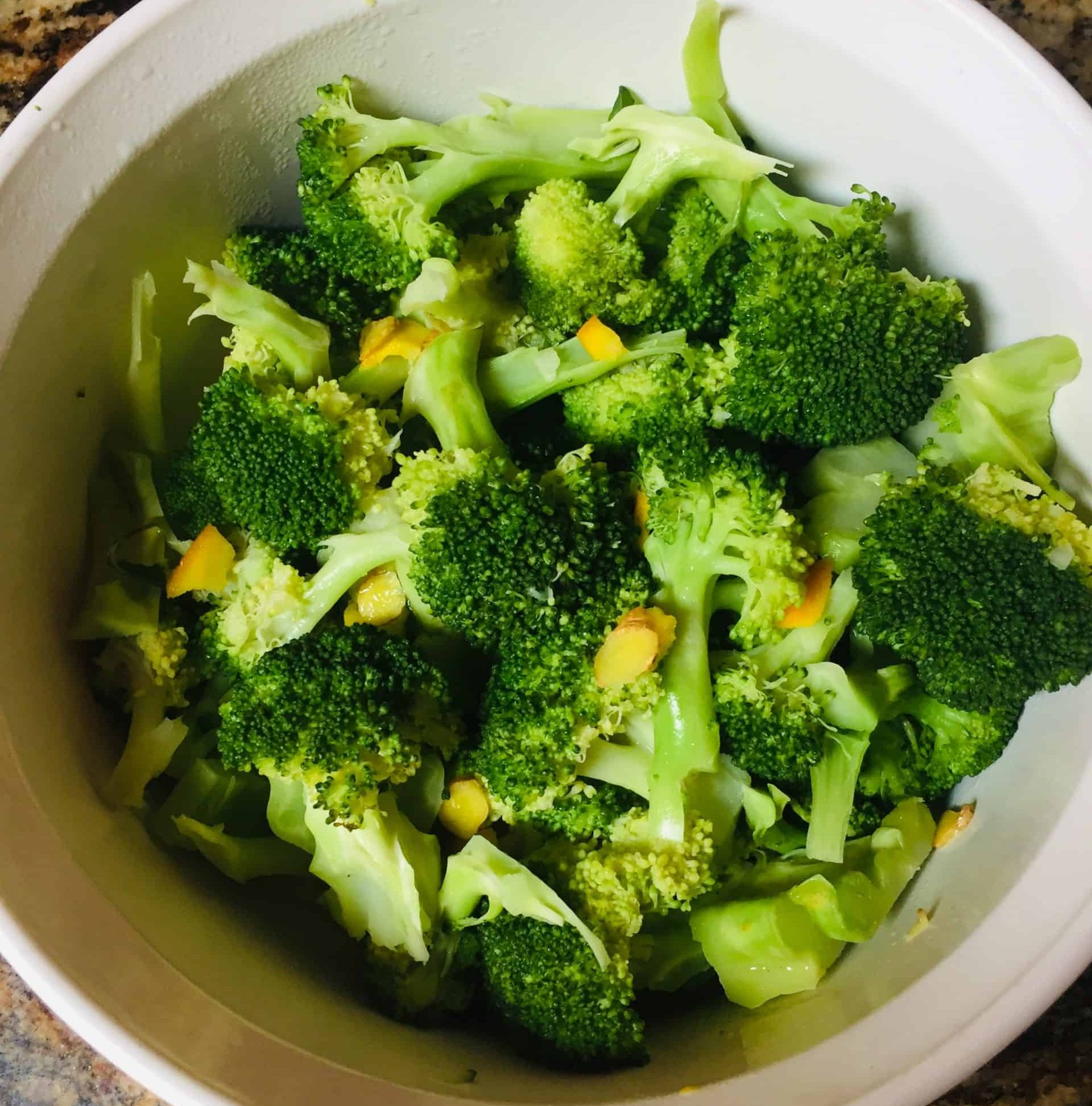 broccoli with orange ginger butter
