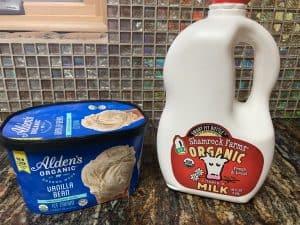 homemade milkshakes