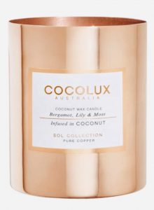 coconut and beeswax blend candle