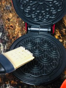 greasing pizzelle maker irons