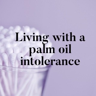 personal care items with palm oil intolerance