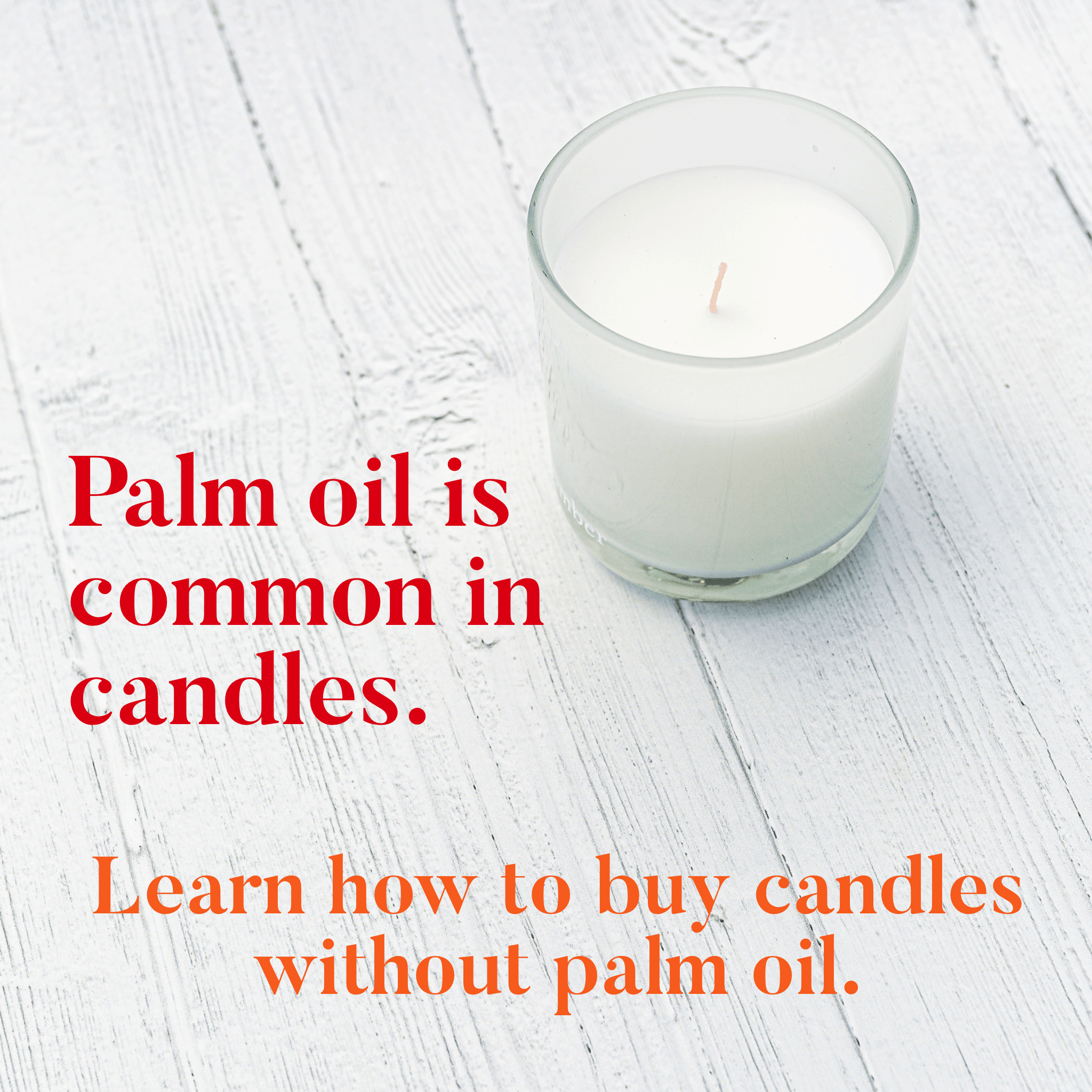 palm oil free candles