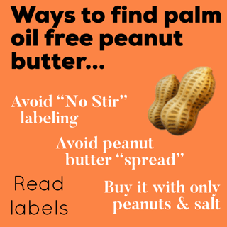 ways to find palm oil free peanut butter