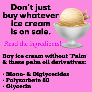 how to find palm oil free ice cream