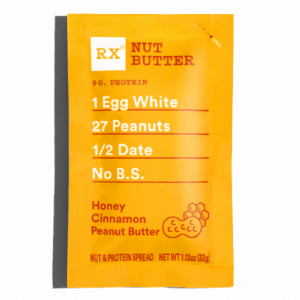 RX nut butter without palm oil ingredients